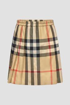 Burberry Kids Girls Beige Skirt