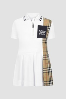 Burberry Kids Girls White Dress
