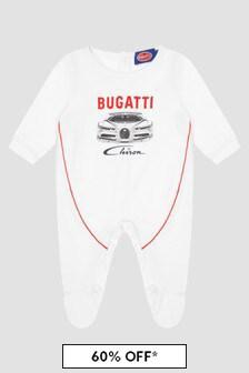 Bugatti Baby Boys White Sleepsuit