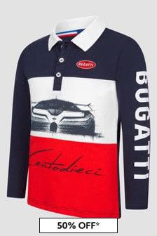 Bugatti Boys Navy Polo Shirt