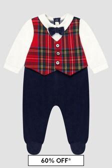 Bimbalo Baby Boys Red Sleepsuit