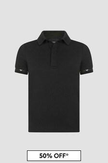 Emporio Armani Black Polo Shirt