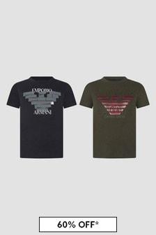 Emporio Armani Navy T-Shirts 2 Pack