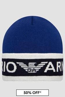 Emporio Armani Boys Blue Hat