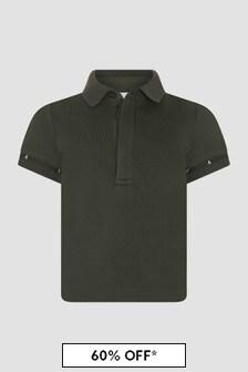 Emporio Armani Baby Boys Khaki Polo Shirt