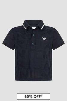 Emporio Armani Baby Boys Navy Polo Shirt