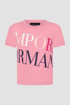 Emporio Armani Girls Pink T-Shirt
