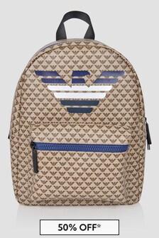 Emporio Armani Beige Backpack