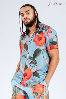 Hype. Slate Hibiscus Shirt