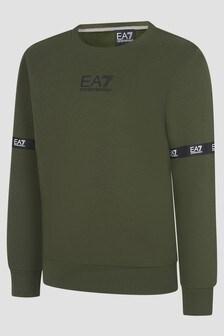 EA7 Emporio Armani Boys Khaki Sweat Top