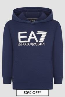 EA7 Emporio Armani Boys Navy Sweat Top