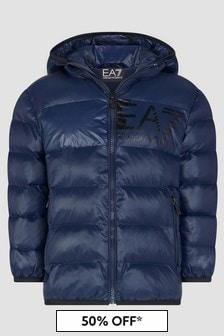 EA7 Emporio Armani Boys Navy Jacket