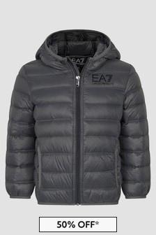 EA7 Emporio Armani Boys Grey Jacket