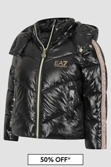 EA7 Emporio Armani Girls Black Jacket