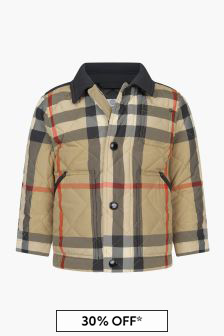 Burberry Kids Baby Boys Beige Jacket