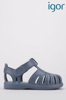 Igor Blue Tobby Solid Sandals