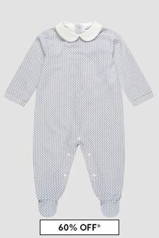Emporio Armani Baby Boys Blue Sleepsuit