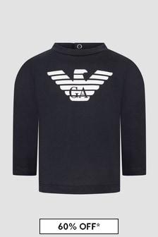 Emporio Armani Baby Boys Navy T-Shirt