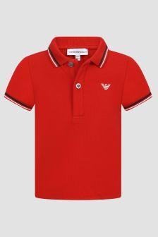 Emporio Armani Baby Boys Red Polo Shirt
