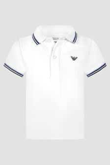 Emporio Armani Baby Boys White Polo Shirt