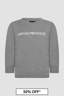 Emporio Armani Boys Grey Sweat Top
