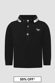Emporio Armani Baby Boys Black Polo Shirt