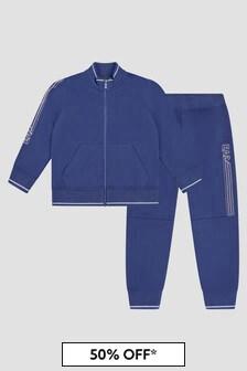 Emporio Armani Boys Blue Tracksuit