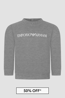 Emporio Armani Baby Boys Grey Sweat Top