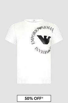 Emporio Armani Baby Girls White T-Shirt