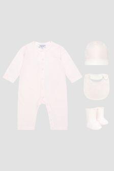 Emporio Armani Baby Girls Pink Rompersuit Set