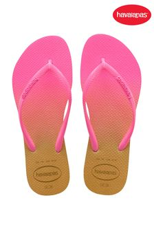 Havaianas Pink Slim Gradient Flip Flops