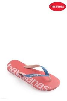 Havaianas Pink Top Logomania Hightech Flip Flops