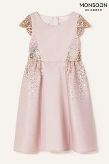 Monsoon Pink Sequin Scuba Dress