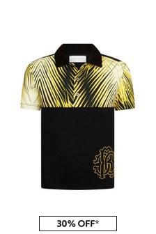 Roberto Cavalli Boys Yellow Polo Shirt