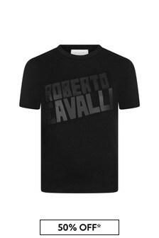 Roberto Cavalli Unisex Black T-Shirt