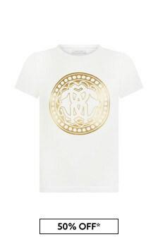 Roberto Cavalli Girls White T-Shirt