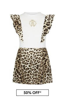 Roberto Cavalli Girls White Dress