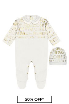 Roberto Cavalli White Sleepsuit Set