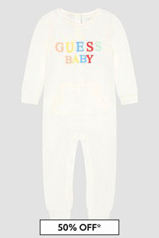 Guess Baby White Sleepsuit