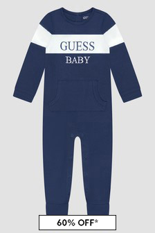 Guess Baby Blue Sleepsuit