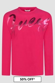 Guess Girls Pink T-Shirt