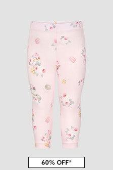Monnalisa Baby Girls Pink Leggings