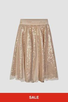 Monnalisa Girls Gold Skirt