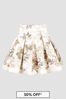 Monnalisa Girls Cream Skirt