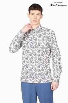Ben Sherman Ivory Large Paisley Print Shirt