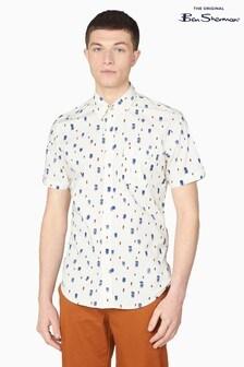 Ben Sherman Ivory Dash Print Shirt