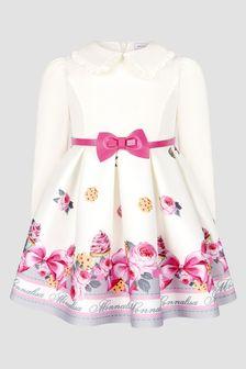 Monnalisa Baby Girls Beige Dress