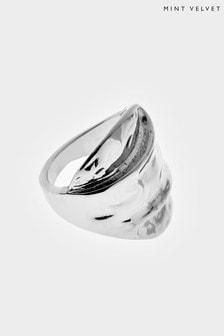 Mint Velvet Silver Tone Statement Ring