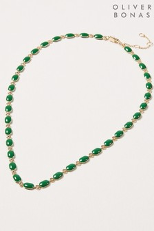 Oliver Bonas Matira Enamel Coated Chain Necklace