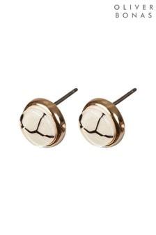 Oliver Bonas Utopia Textured Resin Stud Earrings